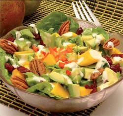 Mango, Avocado, and Romaine Lettuce Salad